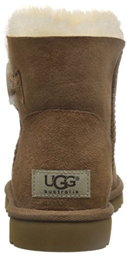 UGG Mini Bailey Button, Stivali Corti Donna Marrone (CHESTNUT)