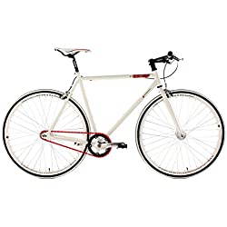 "KS Cycling Essence 390B - Bicicleta de fitness, color blanco, ruedas28"", cuadro 56 cm"