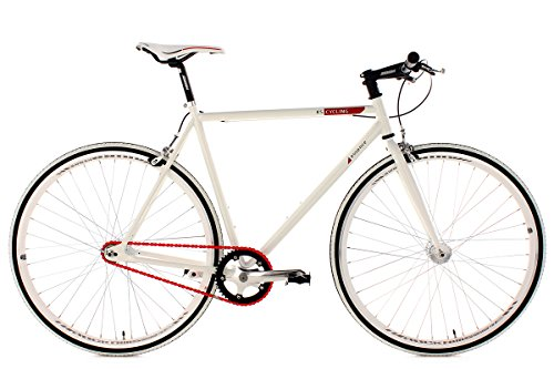 KS Cycling Fahrrad Fitness-Bike Single Speed Essence RH 59 cm, Weiß, 28, 392B