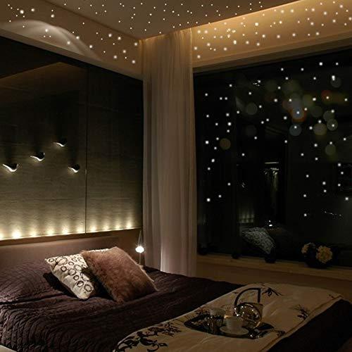 YUXAN Wandaufkleber Lichtpunkt 407 Runde fluoreszierender Mond Kinderzimmer Nachtdekoration Aufkleber, Mondabschnitt