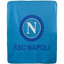 Coperta plaid in pile SSC Napoli ufficiale invernale Singolo 130x160 cm Q199 268796bab1ee