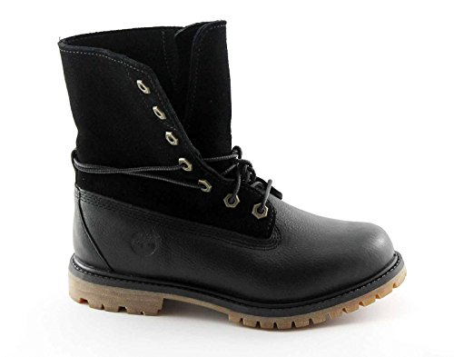 TIMBERLAND A18PQ black shoes black woman boots leather flap 37