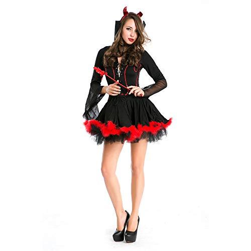 LHLIGHT Halloween Cosplay Kostüm Hexe Outfit Demon Outfit Performance-Kostüm Sexy Bar Erwachsene Halloween Damen ()