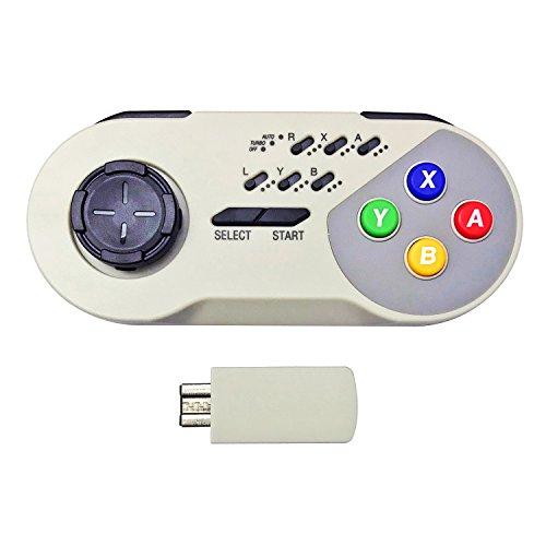 Jadebones sans Fil Turbo Controller Joystick Gamepad pour Nintendo Super NES Snes Mini Classic Edition (2017) Wireless