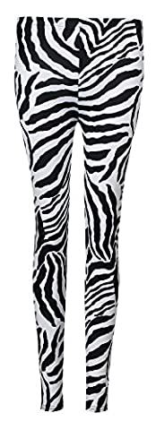 Fast Fashion Damen 2 teiliges Set Zebra Druck Ärmelloses Top (Zebra Leggings Set)