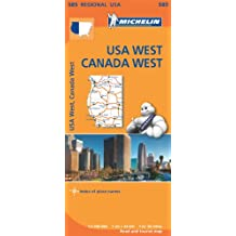 USA West Map (Michelin Regional Map)