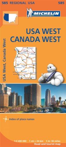 Mapa Regional USA West, Canada West (Carte regionali)