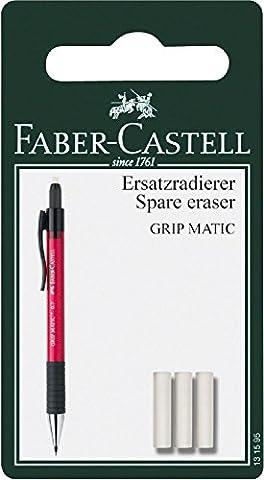 Faber-Castell 131595Grip Matic Mechanical Pencil Eraser Refills Pack of 3)