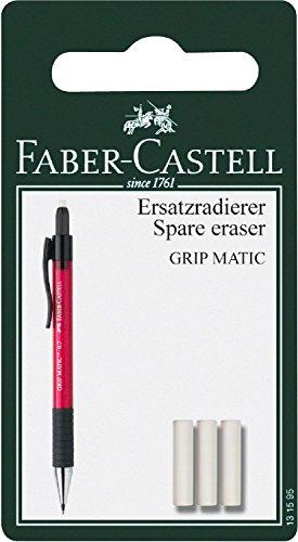 Faber-Castell 131595 - Ersatzradierer für Druckbleistift Grip Matic, 3 Stück