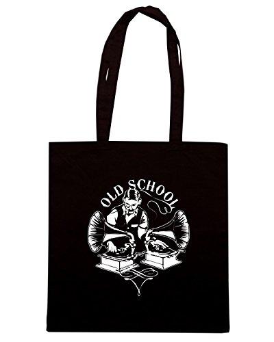 T-Shirtshock - Borsa Shopping FUN0060 03 25 2013 Old Timey School T SHIRT det Nero