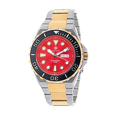 Constantin Durmont Herren Analog Automatik Uhr mit Vergoldet Armband Oceanbay Automatic 130576