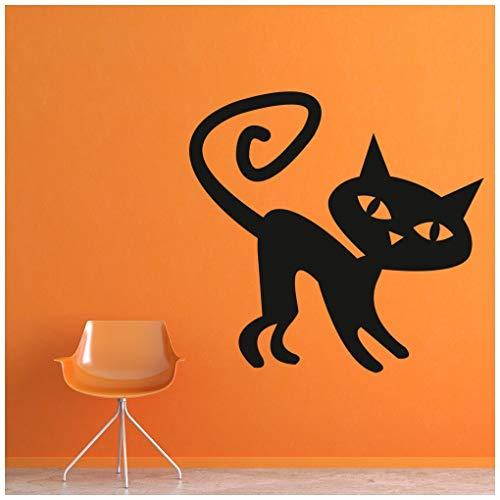 tze Wandtattoo Halloween Wand Sticker Scary Kinder Wohnkultur verfügbar in 5 Größen und 25 Farben X-Groß Blatt Grün ()