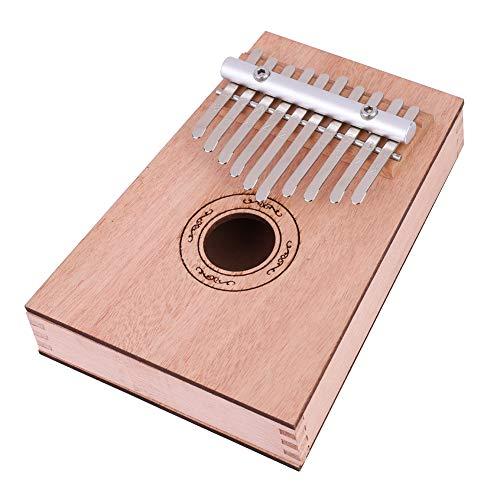 10 Llaves Kalimba DIY Kit Set Caoba Percusión de Mano Pulgar Piano Kit Mbira Instrumento Musical para Amante de la Música, Principiante y Niños