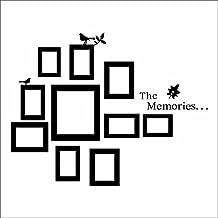 10 marcos de fotos para pared de color negro adhesivos de vinilo de decoración para el hogar