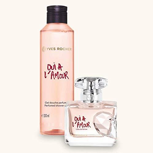 Yves Rocher OUI À L'AMOUR Duft-Set, blumig orientalisches Geschenk-Set mit Eau de Parfum & Duschgel