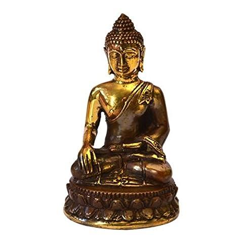 Statue bouddha thai qualite bronze antique