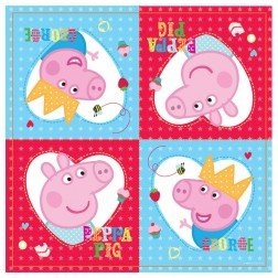 Party Street Peppa Pig Papierservietten, 33 x 33 cm, 16 Stück