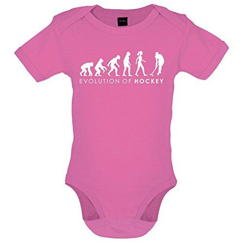 Evolution of Woman - Feldhockey - Lustiger Baby-Body - Bubble-Gum-Pink - 6 bis 12 Monate