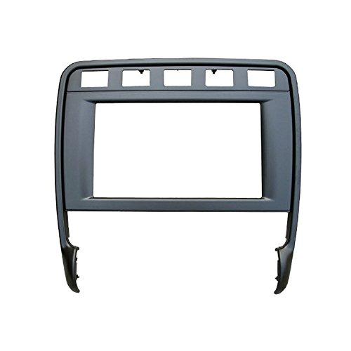 Feeldo 2DIN stéréo de voiture radio Fascia plate Panel Cadre pour Porsche Cayenne Turbo 2009 CD/DVD radio Panel Cadre de tableau de bord Garniture kit de montage
