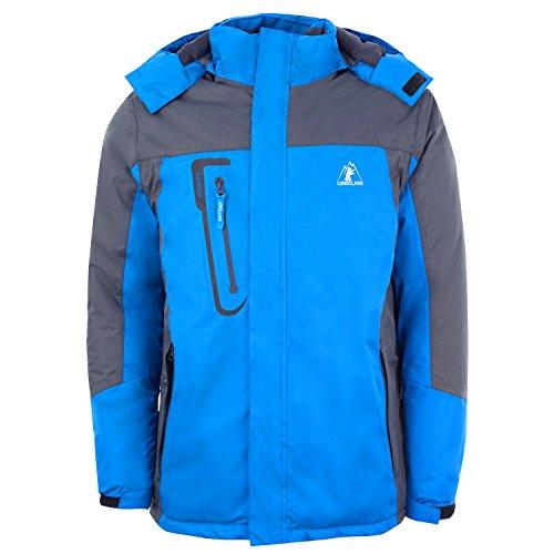 Skijacke Herren blau Snowboardjacke XL Softshell Wintersport Jacke Herren Alpin Ski Snowboard Skikleidung Männer blaue Funktionsjacke Herren wasserdicht atmungsaktiv Wintersportjacke Sportjacke Winter -
