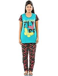 New Darling Womens FAN FARE BLACK AOP Cotton Pyjama Sets