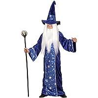 Zaubererkostüm Kinder Zauberer Kostüm Gandalf Magier Merlin Zauberkostüm Hexer