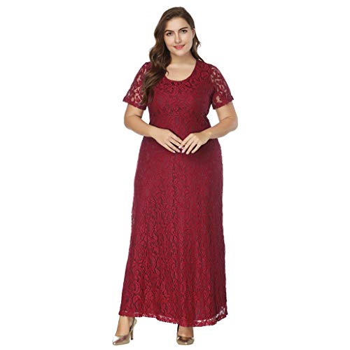 Luckycat Frauen Feste Übergröße Vintage Floral Lace Plus Size Cocktail Formal Swing Kleider...
