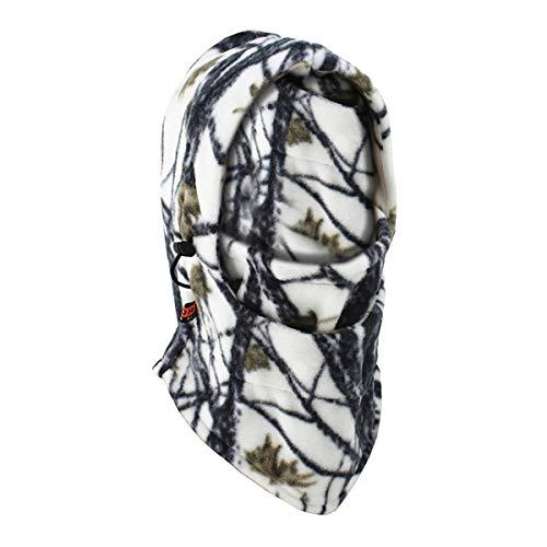 ECYC Bike Ski Winddicht Camo Balaclava Headwear Nackenwärmer Thermo Fleece Balaclava Gesichtsmaske im Freien, weiße Camouflage
