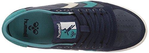hummel SLIMMER STADIL OILED LO Unisex-Erwachsene Sneakers Blau (Dress Blue 7459)