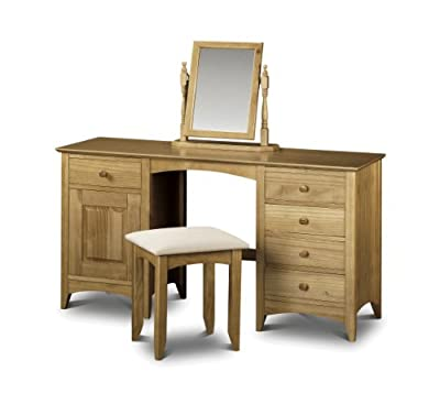 Julian Bowen Kendal Twin Pedestal Pine Dressing Table - low-cost UK dressing table store.