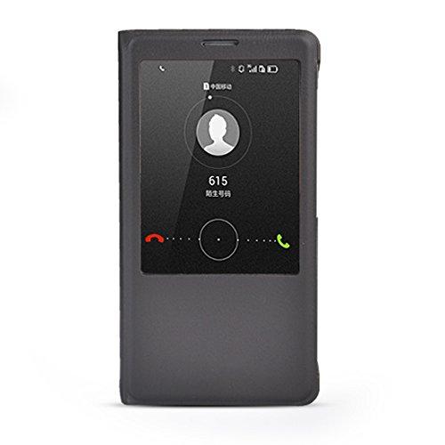 KKNSELLCASE Automatischem Sleep/Wake funktion Leder Tasche Flip Case Cover Schutzhülle Etui Hülle Schale Für Huawei Ascend Mate7 Grau
