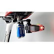 ncnailed soporte de sillín de bicicleta para GoPro & cola luz cartucho co2doble uso (3en 1) soporte de sillín regulable