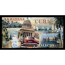 John Clarke–La Habana Cuba Póster De Impresión De Imagen en el marco de aluminio en negro