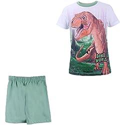 DINO WORLD, Dinosaurio Niños Pijama, blanco, talla 104, 4 años