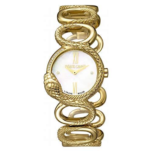 Montre Femme Roberto Cavalli by Franck Muller rv2l018m0021Acier Gold doré