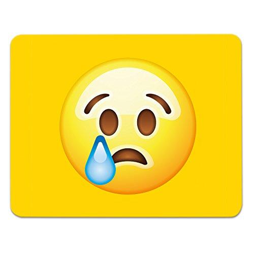 Addies Mousepad Emoji/Emoticons. Sehr schönes Mauspad Motiv in feiner Cellophan Geschenk-Verpackung mit Kautschuk Untermaterial, 240x190mm, Motiv-Tear