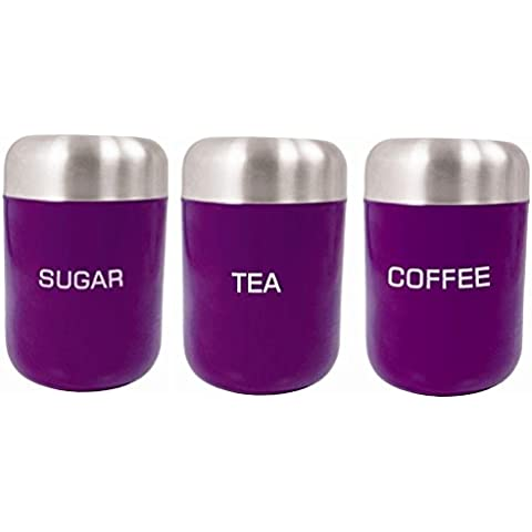 Melanzana Zodiac-Set di 3 barattoli per tè,