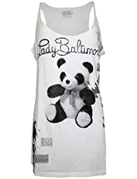 LORD & LADY BALTIMORE Femme Designer Tank Shirt - PANDA -