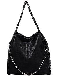 7f7ee104d27 Mioy Mode Dame Sac à Main Couleur Unie Chaîne en Métal Casual Messenger bag  Sac à