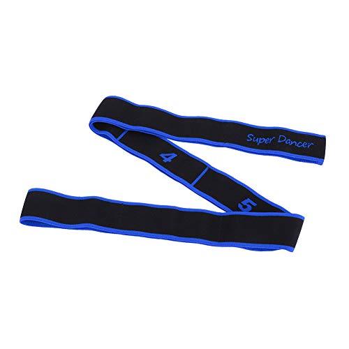 Dilwe Stretchband, 8 Loops Elastischer Widerstand Übungsband für Balletttanz Yoga Pilates Gymnastik Pullup Assist/Muskelaufbau/Stretching/Physiotherapie und Mehr(Blau)