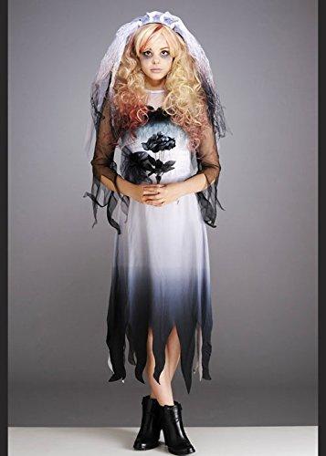 Braut Kostüm Teen - Teen gotischen Zombie Braut Halloween-Kostüm XL (12-14 years)