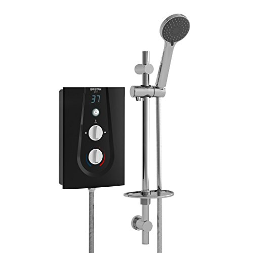 Bristan GLE3105 B 10.5 kW Glee 3 Electric Shower - Black Best Price and Cheapest