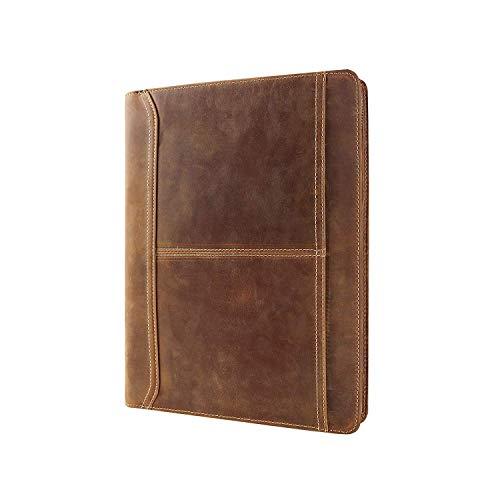 Handgefertigte Vintage Tablet-Mappe Tasche, Echtledermappe mit iPad Halter, Professionelle Tascher für iPad Pro 12.9