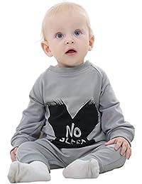 MICHLEY Bebé Niño Niño Mono Algodón Harem Bebé Mameluco Negro Y Gris