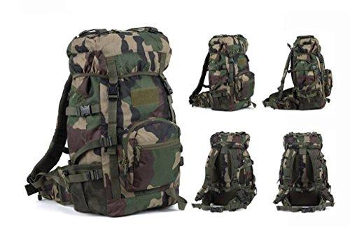Uomini e donne di alpinismo borse 45L borsa a tracolla borsa da viaggio impermeabile di grande capacità ( Colore : Nero , dimensioni : 45L ) Camo