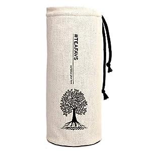 amapodo Schutzhülle plastikfrei Cover Sleeve Hülle Flaschenhülle für Trinkflaschen Thermosflaschen Glasflaschen Teeflaschen mit Ø von 6-8cm