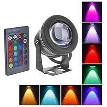 LLW-10W LED Luz subacuática 1000LM impermeabilizan la lámpara de inundación con Lentes de cristal convexa (12-18V)