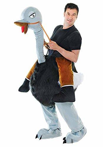 Step-Strauß In Herren, Tier, Vogel, Hirsch Do Funny Comedy-Kostüm Outfit (Herren Bein Strauß)