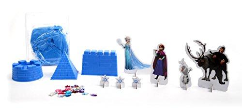 Brigamo FR99904 – Disney Frozen Sandspielzeug Eiskönigin Elsas funkelnder Eispalast aus Knetsand inklusive Förmchen, Figuren und funkelnden Klitzersteinen - 3