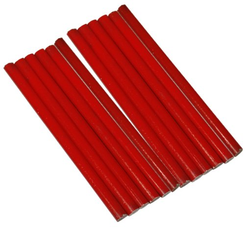 Aerzetix: 12 X Bleistift tischler Zimmermannsbleistifte Bauleistungen im Hochbau